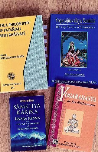 libros clásicos de yoga Yoga Sutras, Samkhya karika, Bhagavad Gita, Yoga Rahashya